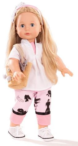 dukke med langt hår