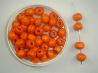 Træperle 7 mm orange mørk 250 g
