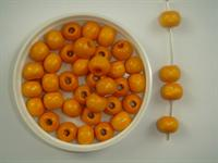 Træperle 7 mm orange lys 250 g