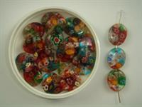 Millefiori oval mix 100 stk